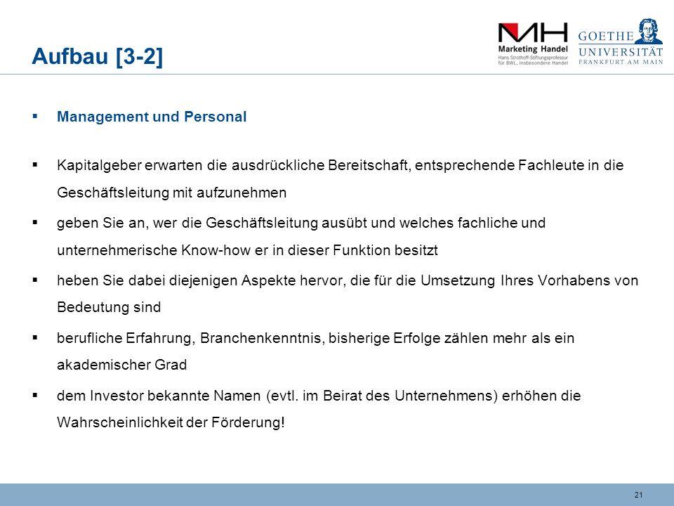 Aufbau [3-2] Management und Personal